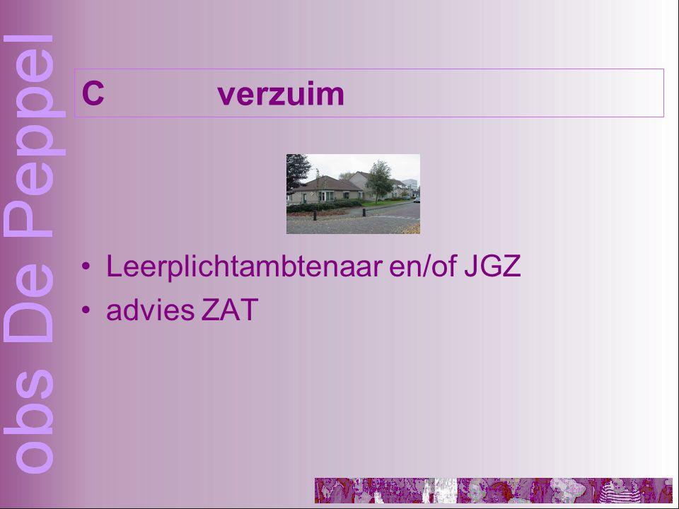 Leerplichtambtenaar en/of JGZ advies ZAT Cverzuim