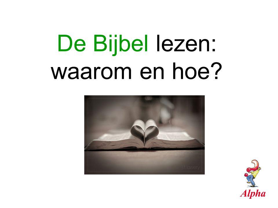 De Bijbel lezen: waarom en hoe?