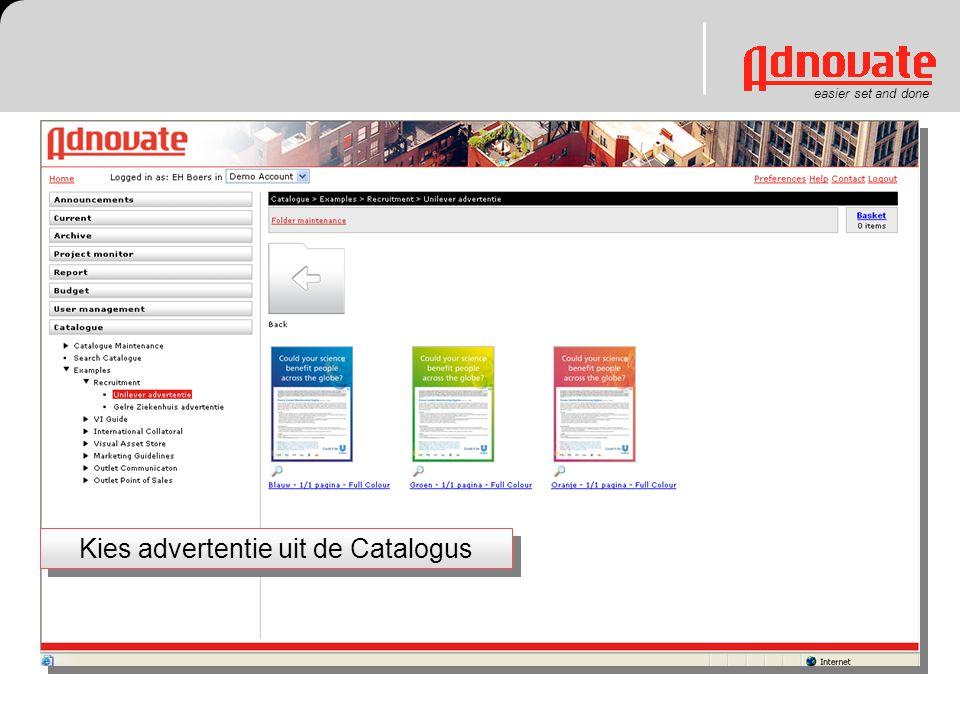 easier set and done Kies advertentie uit de Catalogus