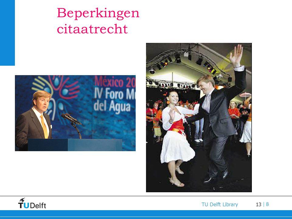 13 TU Delft Library | 8 Beperkingen citaatrecht