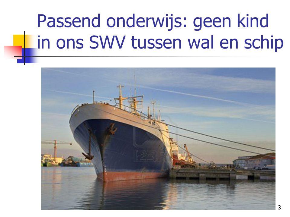 Passend onderwijs: geen kind in ons SWV tussen wal en schip 3