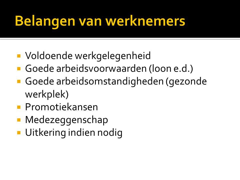 Drie grote werkgeversorganisaties  VNO-NCW (fusie tussen Verbond van nederlandse ondernemingen en Nederlands Christelijk Werkgeversverbond)  MKB-Nederland (Koninklijke Vereniging Midden- en Kleinbedrijf)  LTO (Federatie van Land- en Tuinbouworganisaties)