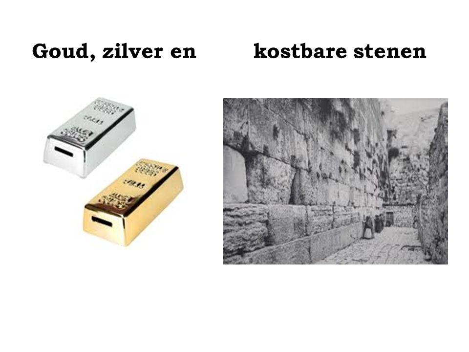 Goud, zilver en kostbare stenen