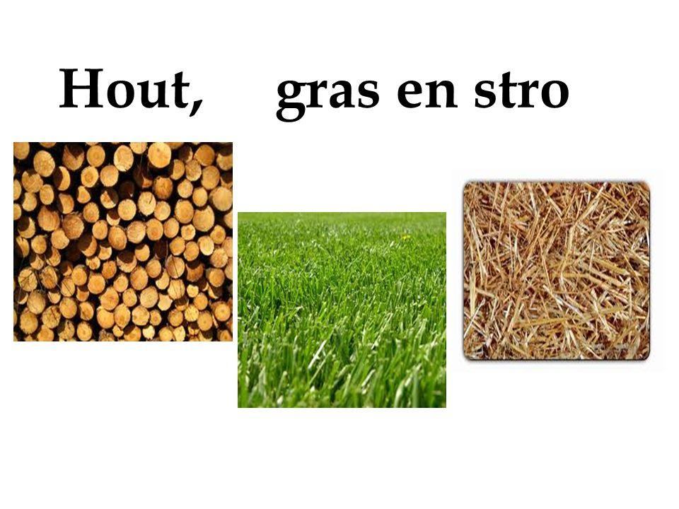Hout, gras en stro