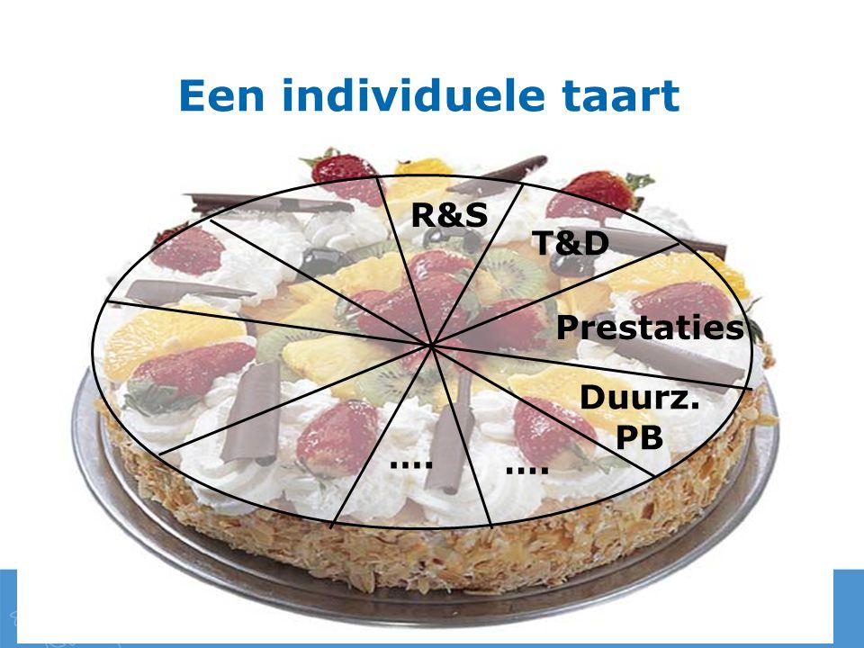 Een individuele taart R&S T&D Prestaties Duurz. PB ….