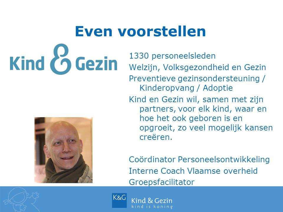 Even voorstellen 1330 personeelsleden Welzijn, Volksgezondheid en Gezin Preventieve gezinsondersteuning / Kinderopvang / Adoptie Kind en Gezin wil, sa