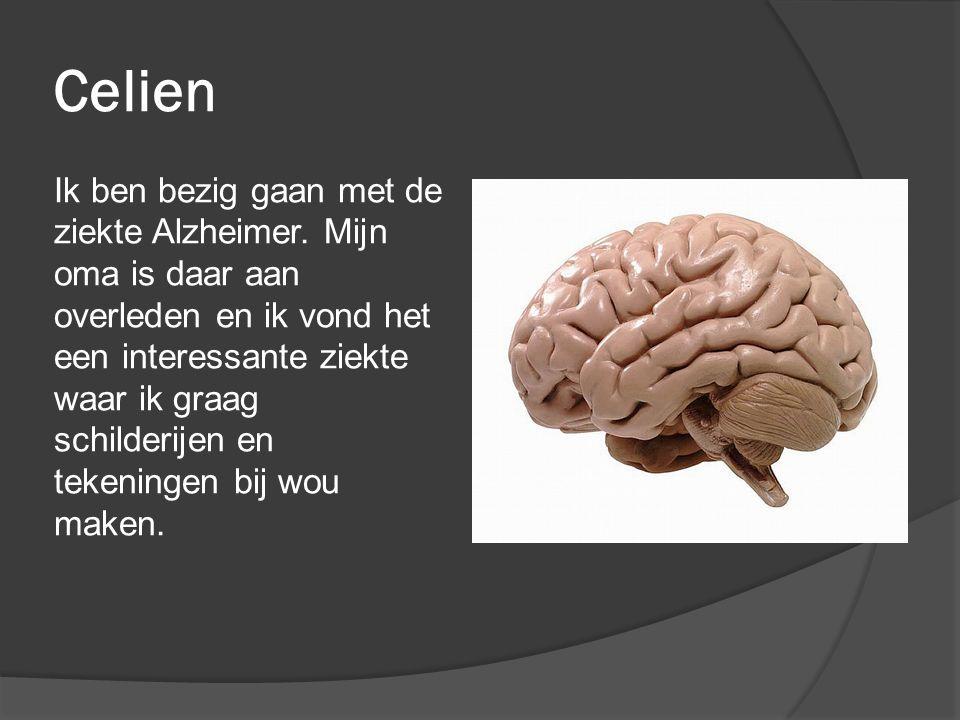 Celien Ik ben bezig gaan met de ziekte Alzheimer.