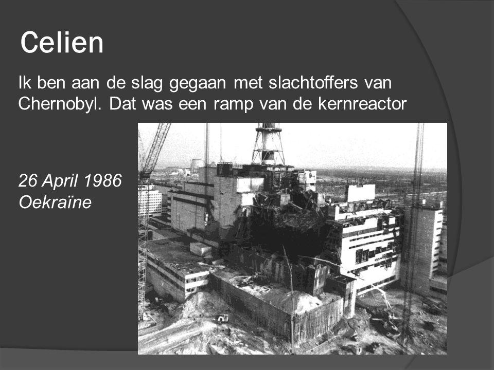Celien Ik ben aan de slag gegaan met slachtoffers van Chernobyl.