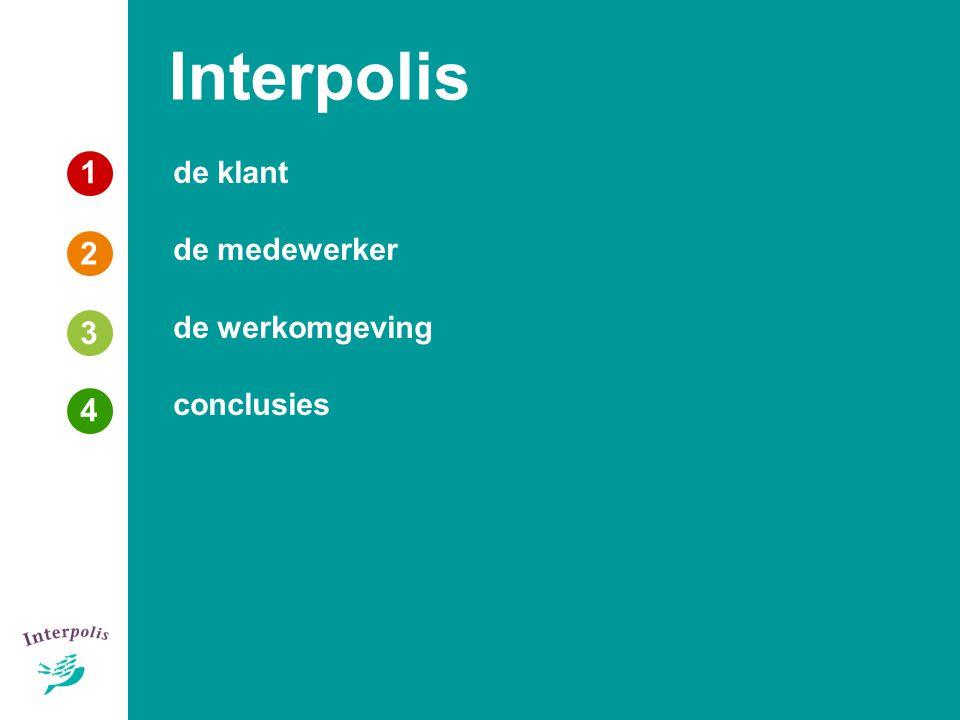 1 3 4 de klant de medewerker de werkomgeving conclusies Interpolis 2 3