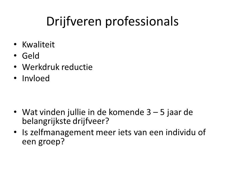 Groepsniveaus 1.Nederlandse bevolking 2.Nederlandse huisartsen (subgroep) 3.Zorggroep huisartsen (DOH 55 leden) 4.Gezondheidscentrum of (A)Hoed 5.Individuele huisarts