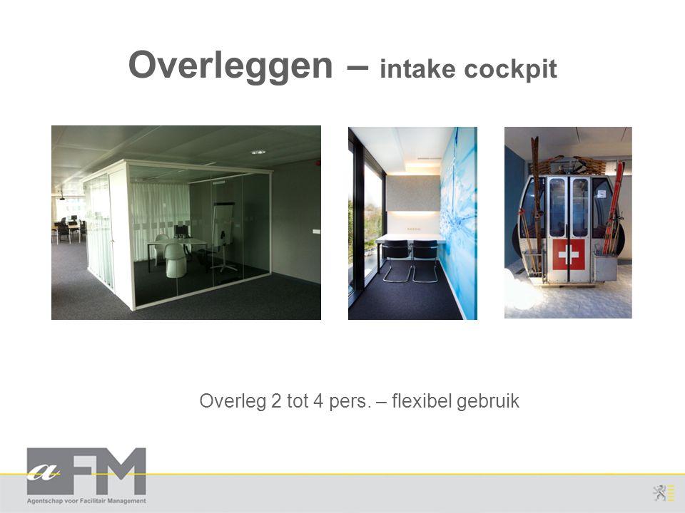 Overleggen – intake cockpit Overleg 2 tot 4 pers. – flexibel gebruik
