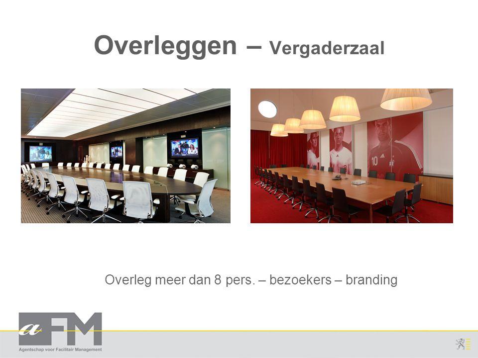 Overleggen – Vergaderzaal Overleg meer dan 8 pers. – bezoekers – branding