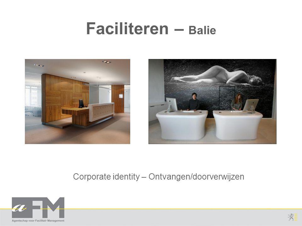 Faciliteren – Balie Corporate identity – Ontvangen/doorverwijzen