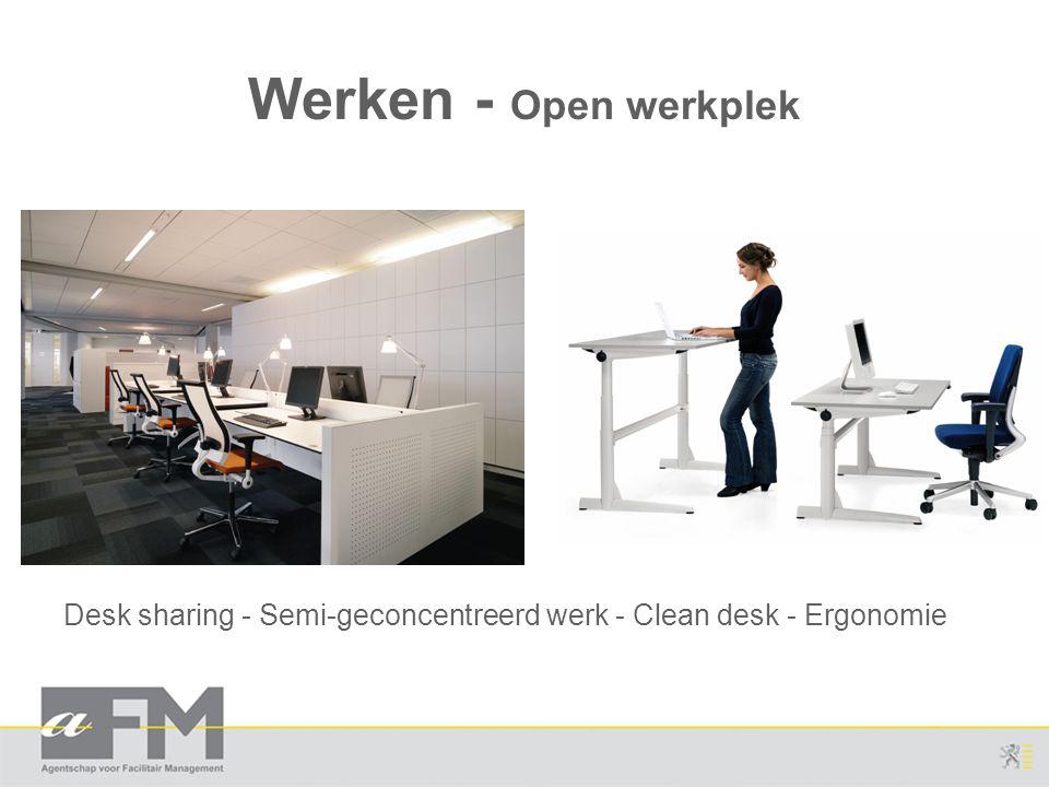 Werken - Open werkplek Desk sharing - Semi-geconcentreerd werk - Clean desk - Ergonomie