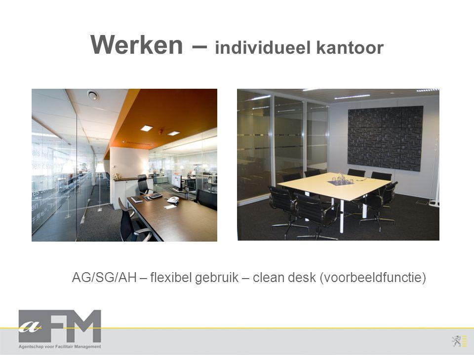 Werken – individueel kantoor AG/SG/AH – flexibel gebruik – clean desk (voorbeeldfunctie)