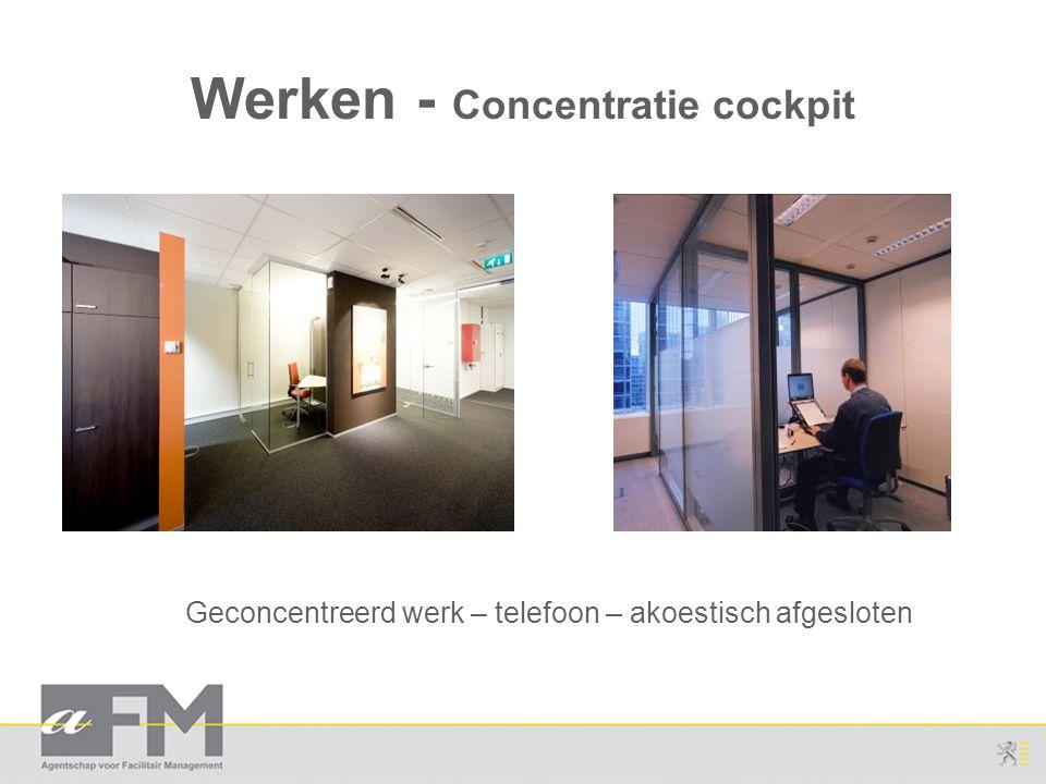Werken - Concentratie cockpit Geconcentreerd werk – telefoon – akoestisch afgesloten