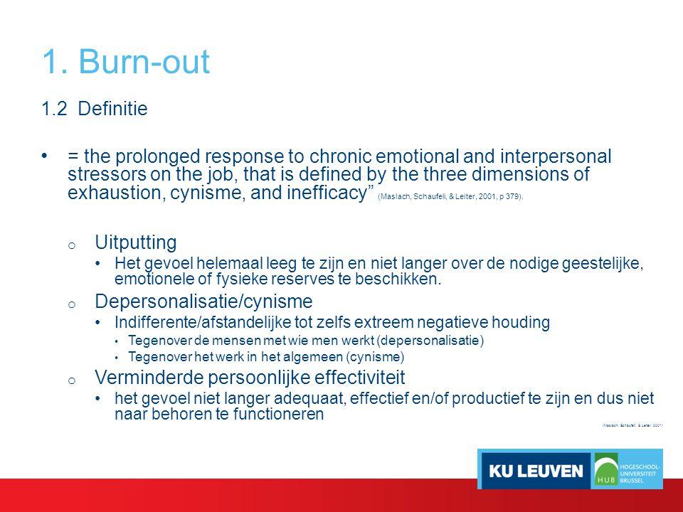 3. Oorzaken van burn-out en bevlogenheid 3.6 Het Job demands resources model: Voorbeeldonderzoek