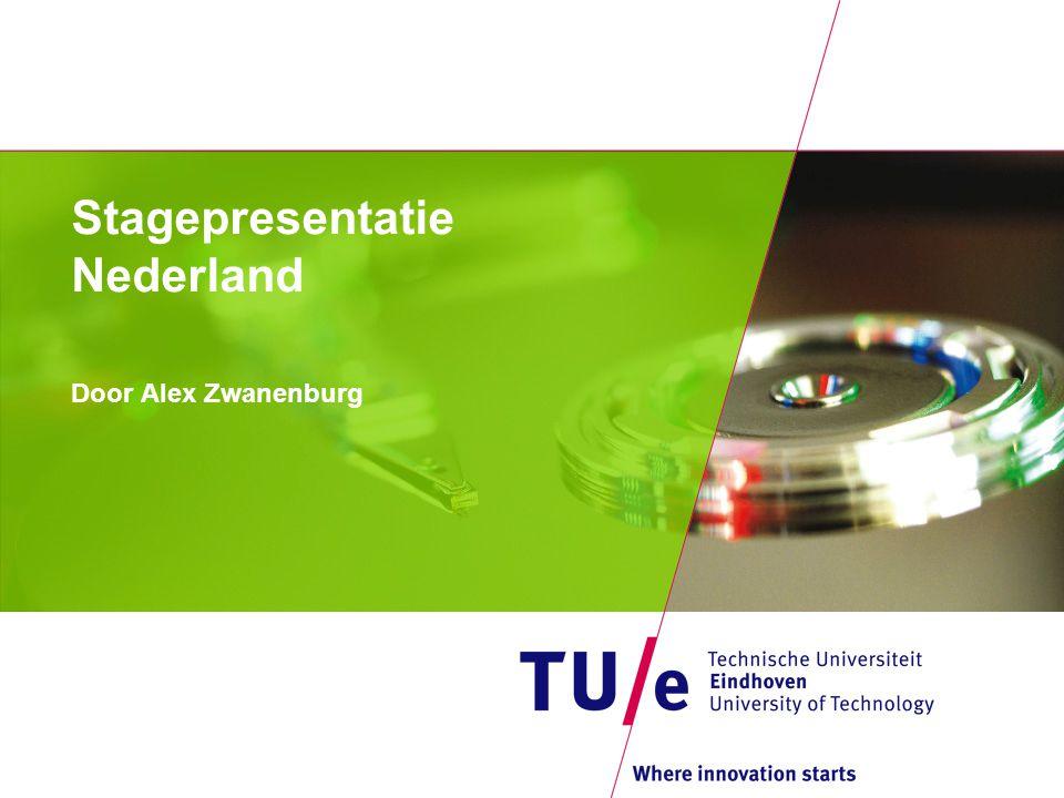 Stagepresentatie Nederland Door Alex Zwanenburg
