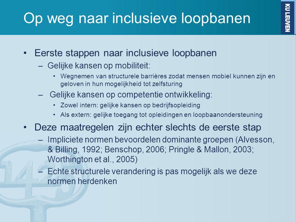 Op weg naar inclusieve loopbanen Eerste stappen naar inclusieve loopbanen –Gelijke kansen op mobiliteit: Wegnemen van structurele barrières zodat mens