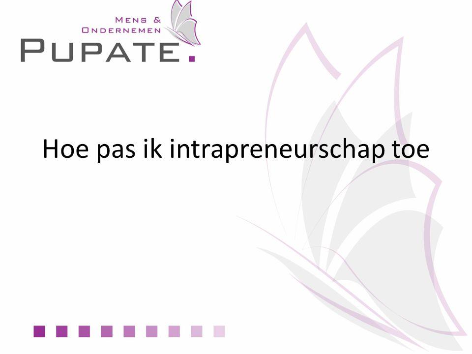 Hoe pas ik intrapreneurschap toe