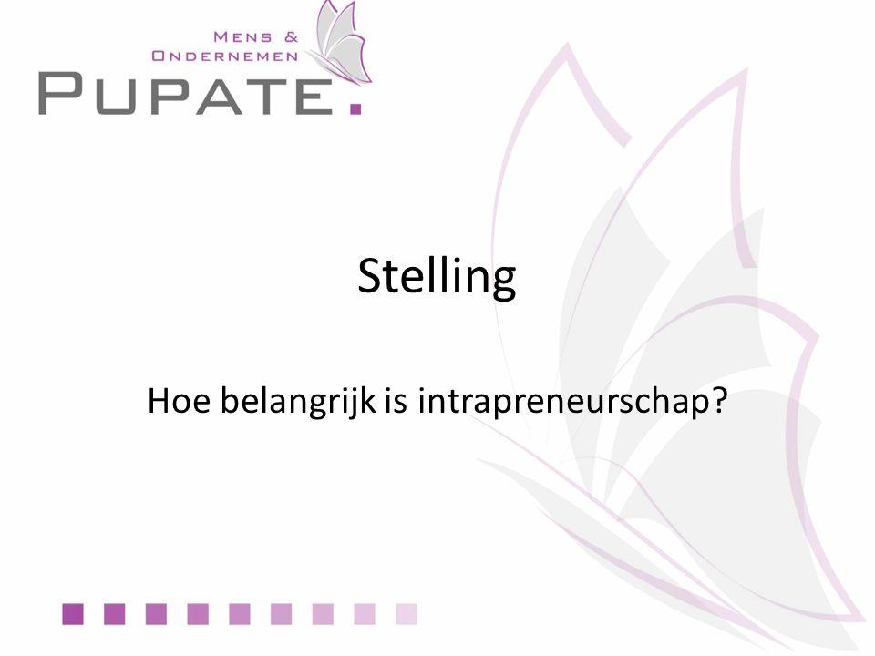 Stelling Hoe belangrijk is intrapreneurschap
