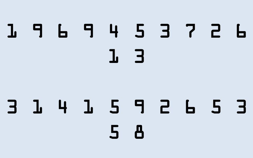 3 1 4 1 5 9 2 6 5 3 5 8