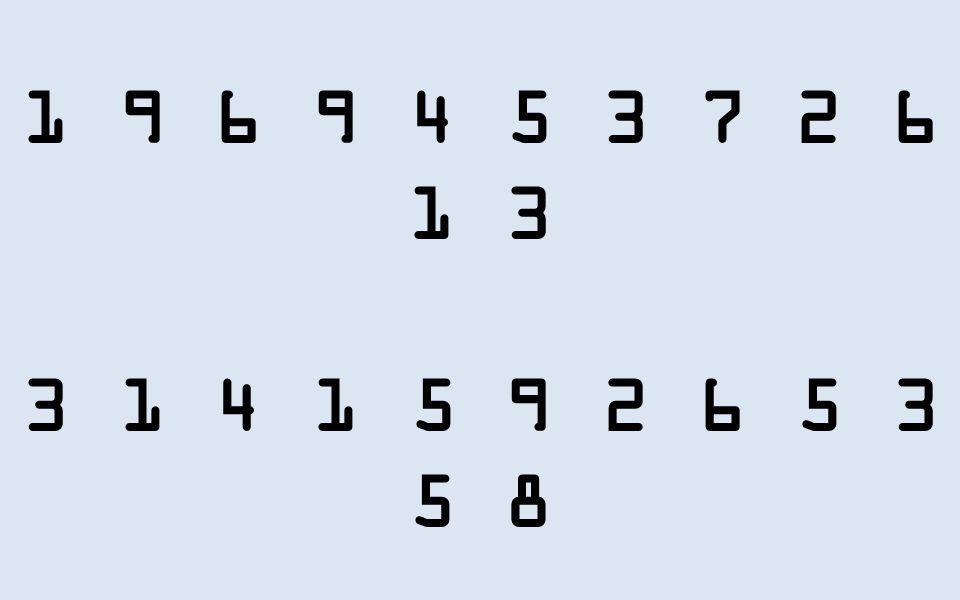 1 9 6 9 4 5 3 7 2 6 1 3 3 1 4 1 5 9 2 6 5 3 5 8 4 8 1 5 1 6 2 3 4 2