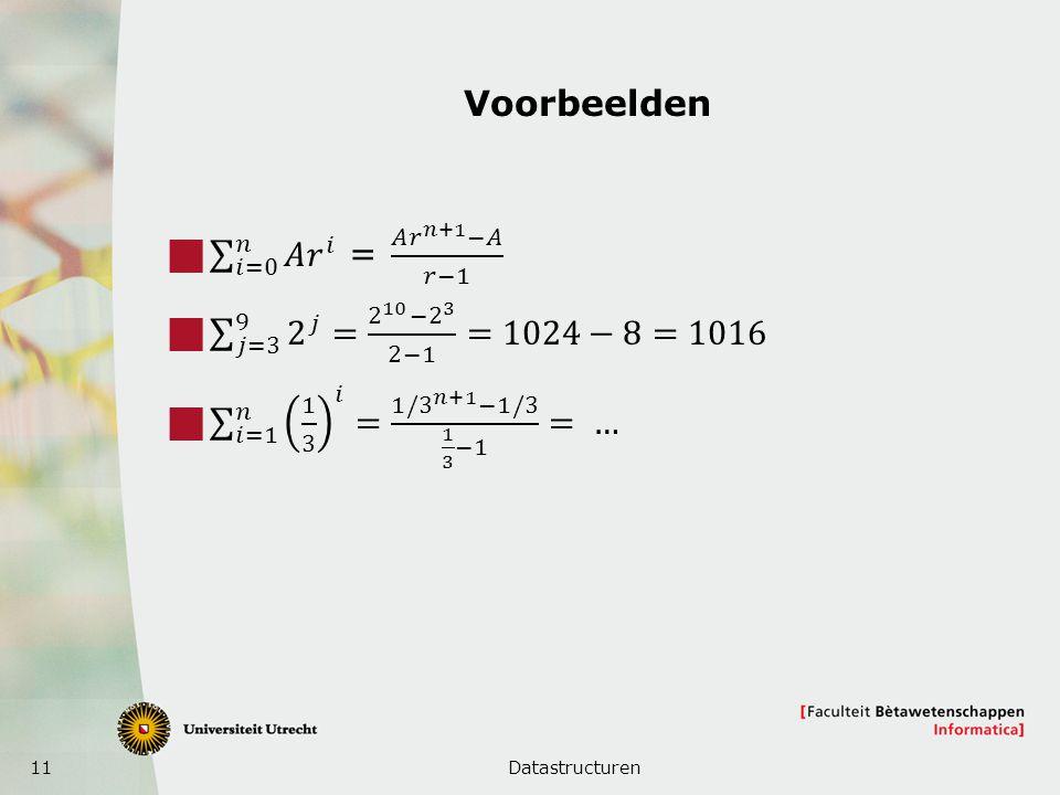 11 Voorbeelden Datastructuren