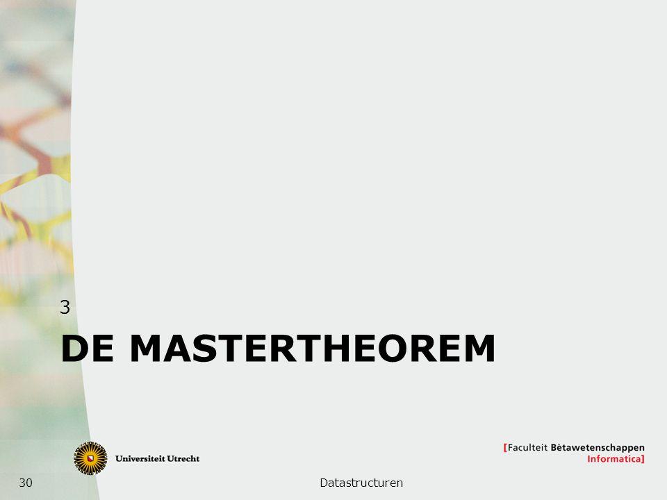 30 DE MASTERTHEOREM 3 Datastructuren