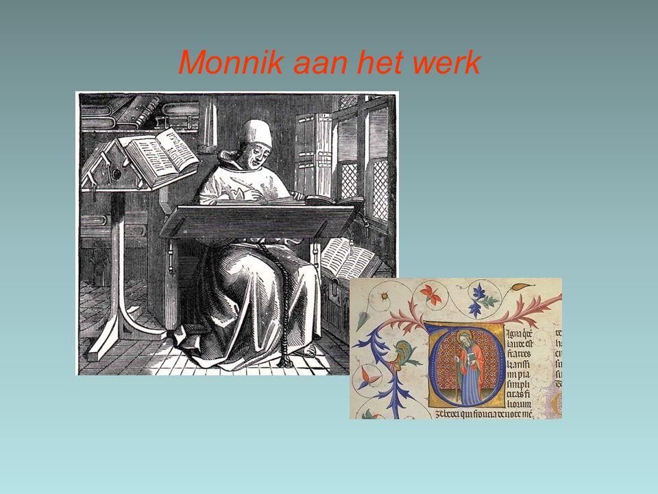 Een klooster in de Middeleeuwen bestond uit een aantal onderdelen, namelijk een bibliotheek, een school, een kerk, een schijfzaal, begraafplaats en een aantal akkers.
