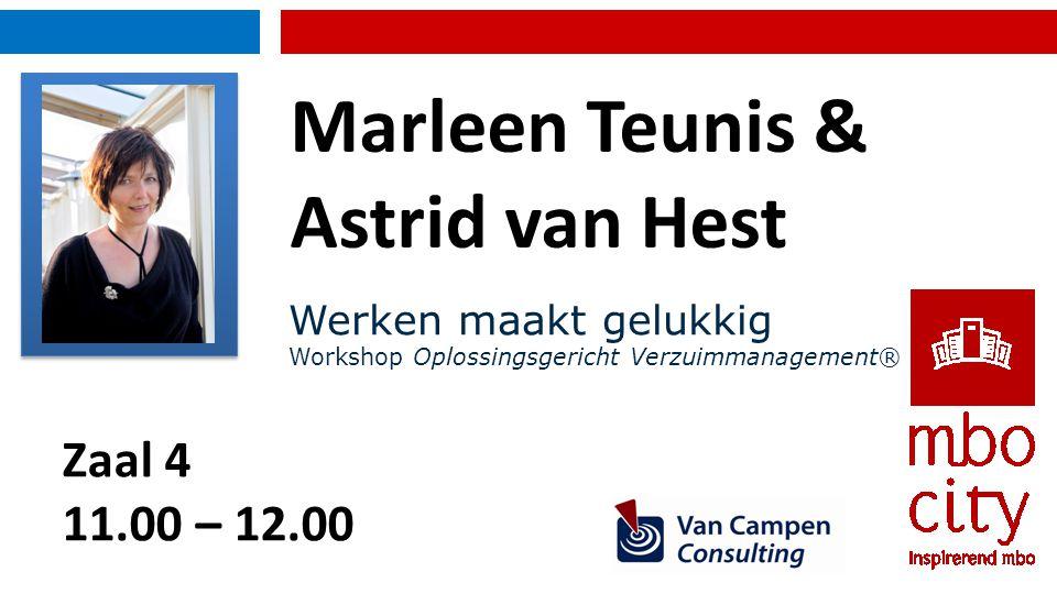 Introductie Oplossingsgericht Verzuimmanagement® Marleen Teunis, Astrid van Hest