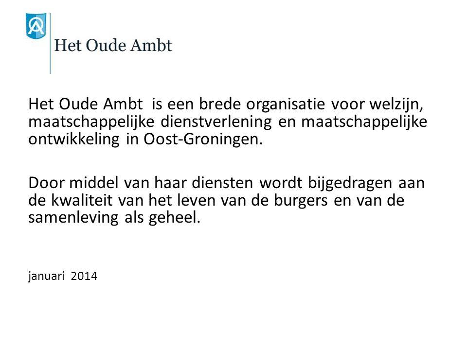 Het Oude Ambt is een brede organisatie voor welzijn, maatschappelijke dienstverlening en maatschappelijke ontwikkeling in Oost-Groningen. Door middel