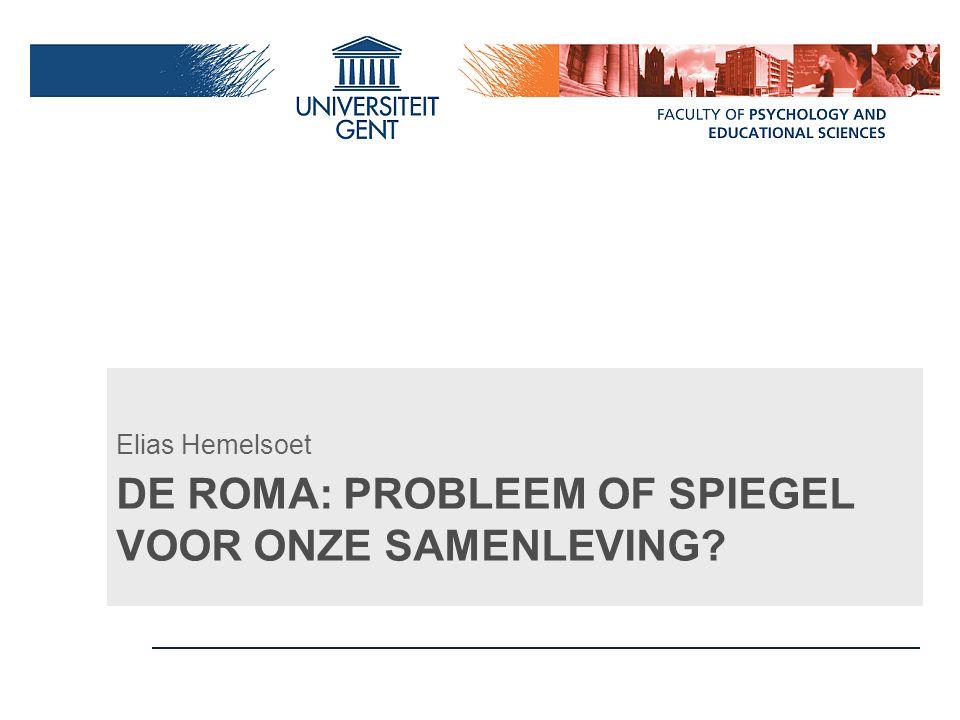 Meer info Verder lezen: Hemelsoet, E.(2011). Samenleven met Roma: fictie of realiteit.