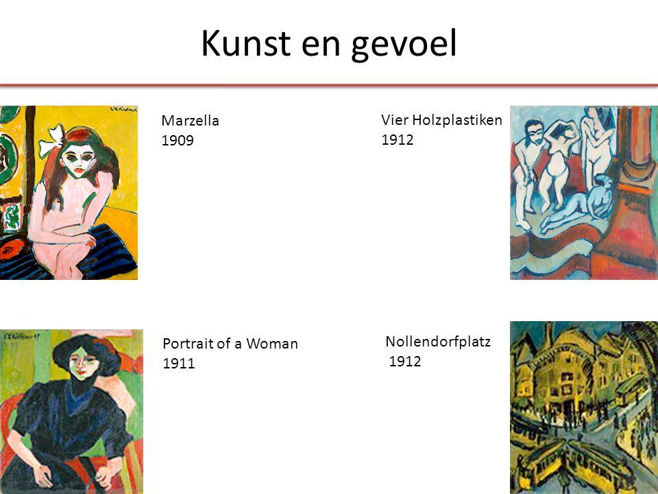 Marzella 1909 Vier Holzplastiken 1912 Nollendorfplatz 1912 Portrait of a Woman 1911