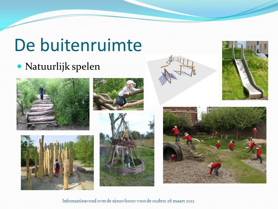 De buitenruimte Natuurlijk spelen Informatieavond over de nieuwbouw voor de ouders 26 maart 2012
