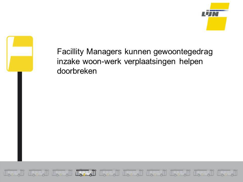Facillity Managers kunnen gewoontegedrag inzake woon-werk verplaatsingen helpen doorbreken