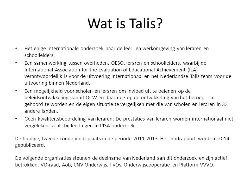 Wat is Talis.