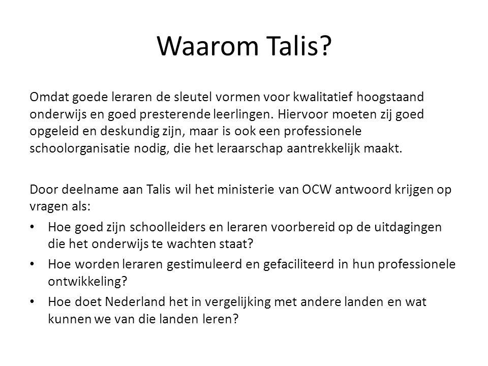 Op welke onderwerpen richt Talis 2013 zich.