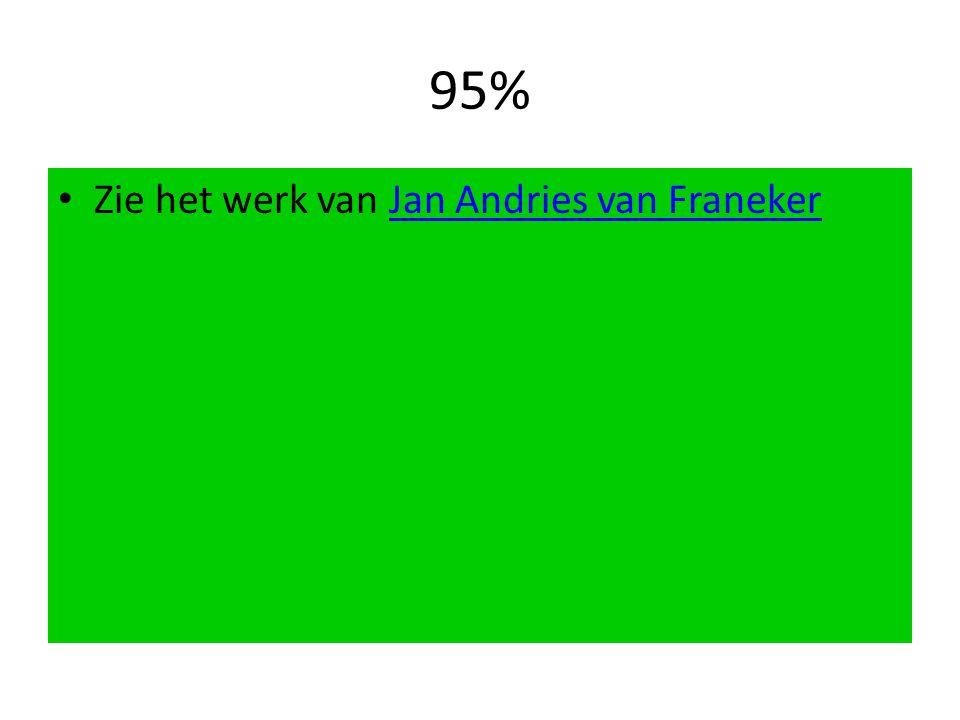 95% Zie het werk van Jan Andries van FranekerJan Andries van Franeker