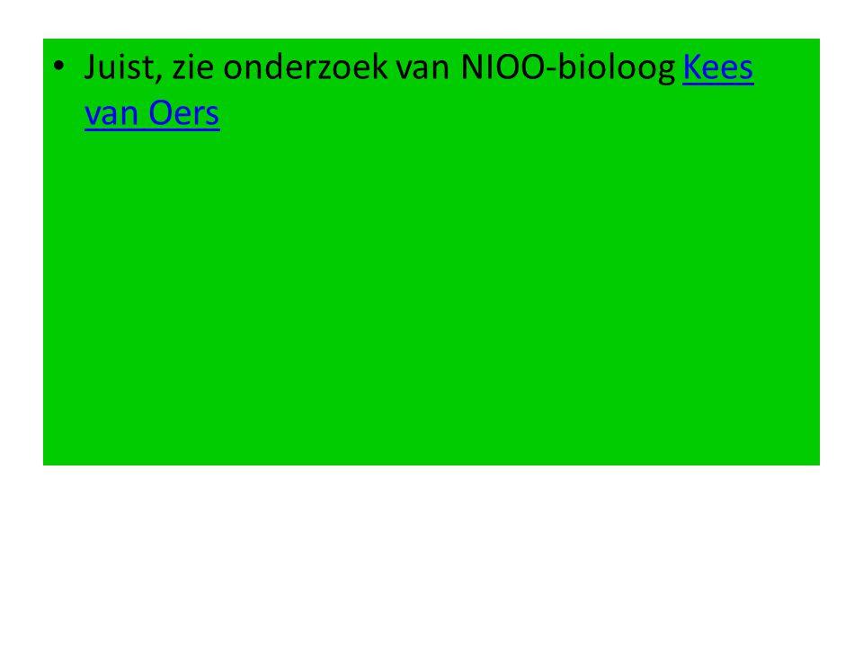 Juist, zie onderzoek van NIOO-bioloog Kees van OersKees van Oers