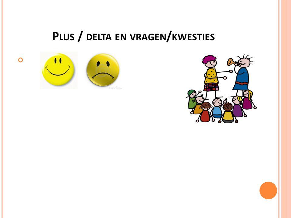 P LUS / DELTA EN VRAGEN / KWESTIES