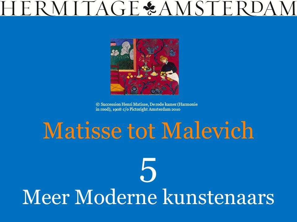 Meer Moderne kunstenaars Matisse tot Malevich 5 © Succession Henri Matisse, De rode kamer (Harmonie in rood), 1908 c/o Pictoright Amsterdam 2010