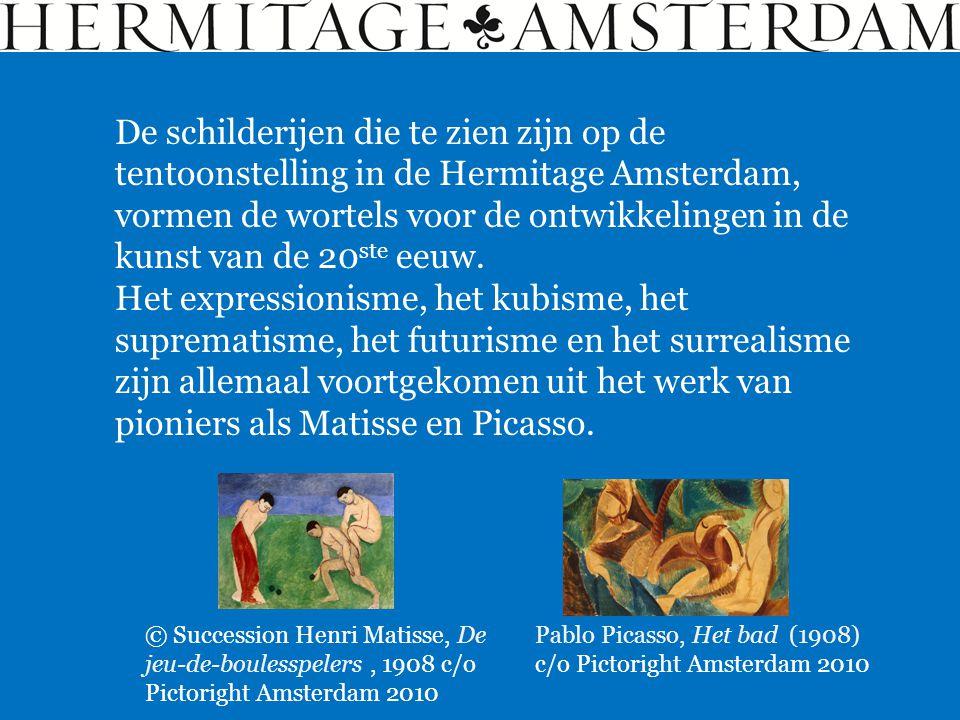 De schilderijen die te zien zijn op de tentoonstelling in de Hermitage Amsterdam, vormen de wortels voor de ontwikkelingen in de kunst van de 20 ste e