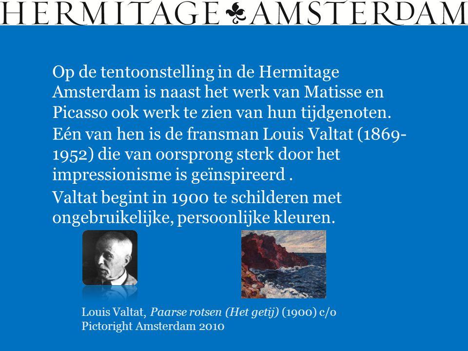 Op de tentoonstelling in de Hermitage Amsterdam is naast het werk van Matisse en Picasso ook werk te zien van hun tijdgenoten. Eén van hen is de frans