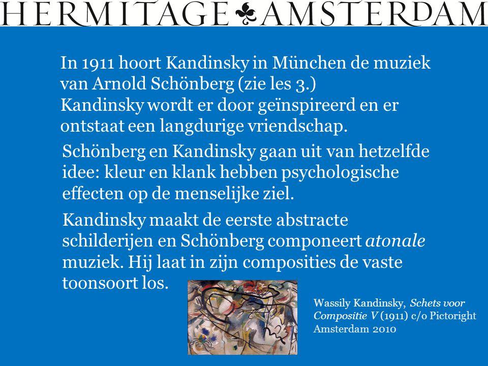 Alexej von Jawlesnky, Landschap met een rood dak (ca 1911) c/o Pictoright Amsterdam 2010 In 1896 ontmoet Alexej von Jawlensky (1864- 1941) in München zijn landgenoot Kandinsky.