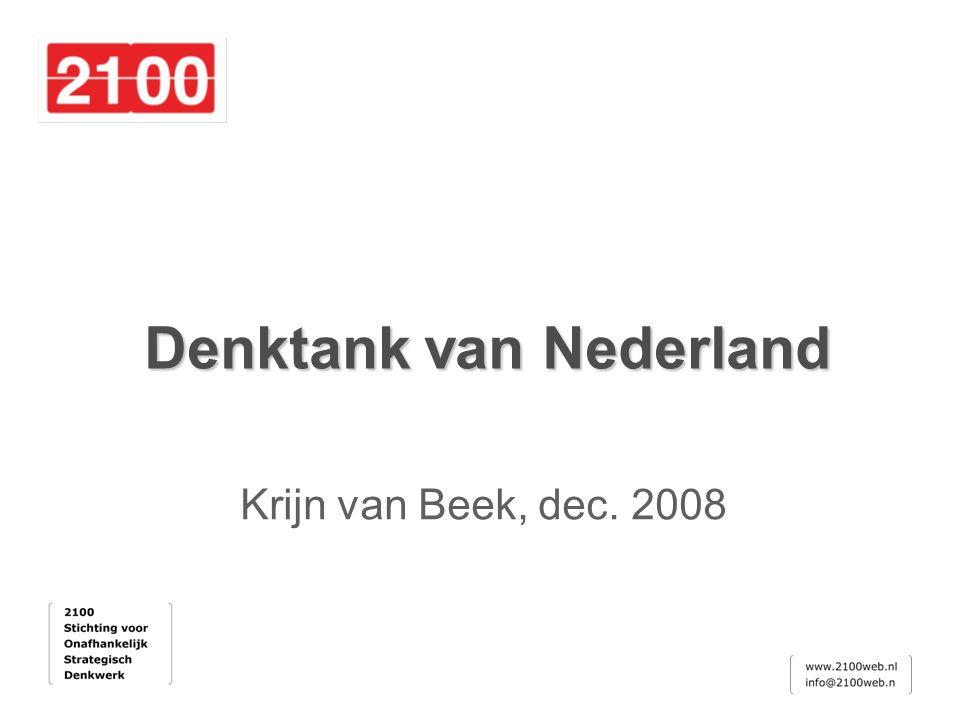 Denktank van Nederland Krijn van Beek, dec. 2008