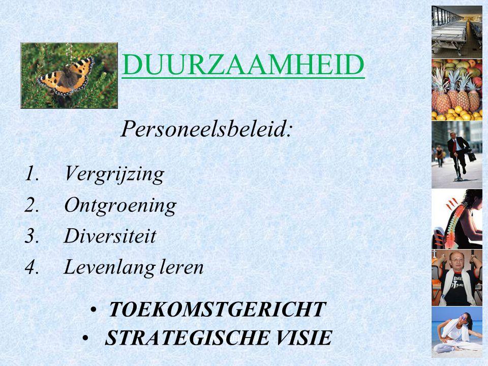 www.lrconsulting.nl DUURZAAMHEID Personeelsbeleid: 1.Vergrijzing 2.Ontgroening 3.Diversiteit 4.Levenlang leren TOEKOMSTGERICHT STRATEGISCHE VISIE