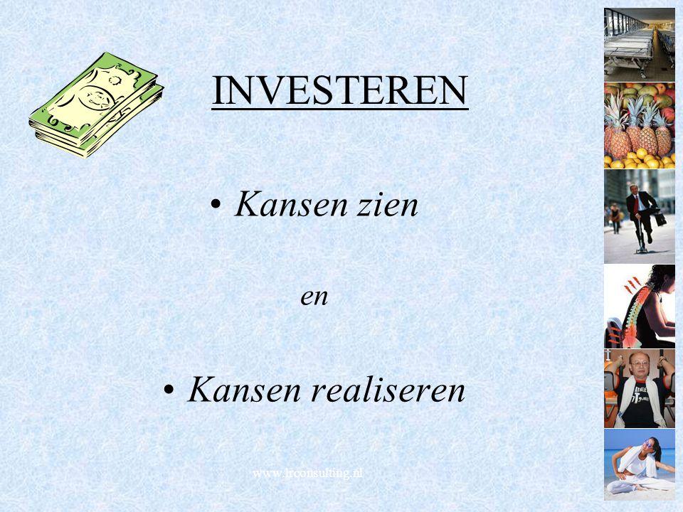 www.lrconsulting.nl INVESTEREN Kansen zien en Kansen realiseren