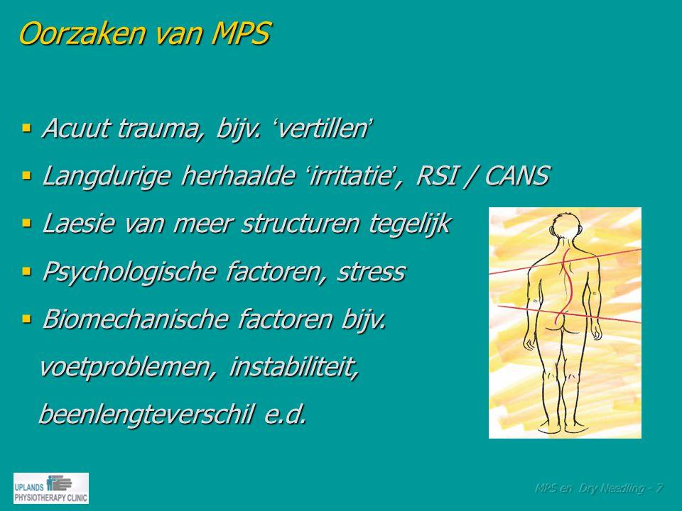 Therapeutische mogelijkheden  Manuele technieken  Ultrageluid  Lasertherapie  Elektrotherapie  NeedlingTherapieën  Triggerpointinjecties i.s.m.