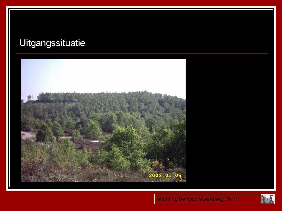 Stichting Behoud Steenberg ON IV  Opgericht April 2003  Na voorlichtingsavond Sigrano balans herstellen inspraak burger  Doel= behoud Mijnsteenberg als cultuurhistorisch monument (in lijn met College)  Hoe te werk.